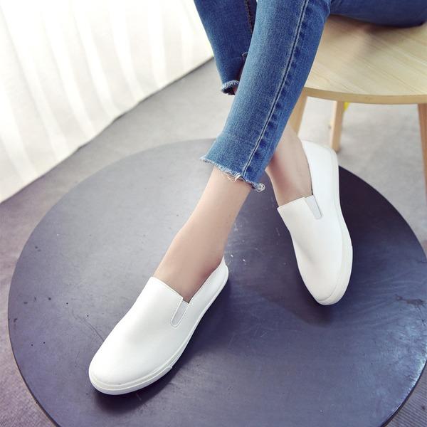 De mujer PU Tacón plano Planos Cerrados zapatos