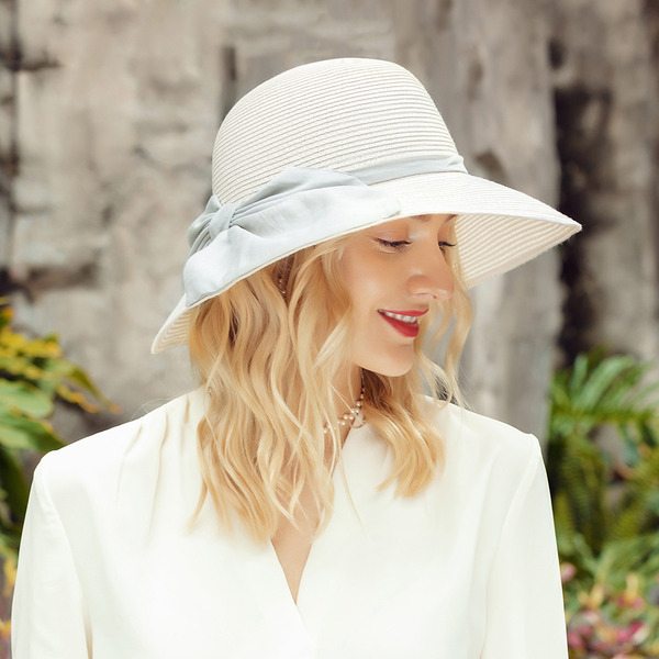 Señoras' Elegante/Exquisito Lino con Bowknot Disquete Sombrero