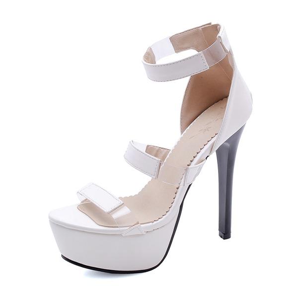De mujer Cuero Tacón stilettos Sandalias Plataforma zapatos