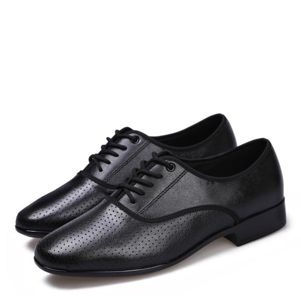 Hombres Piel Planos Danza latina Zapatos de danza