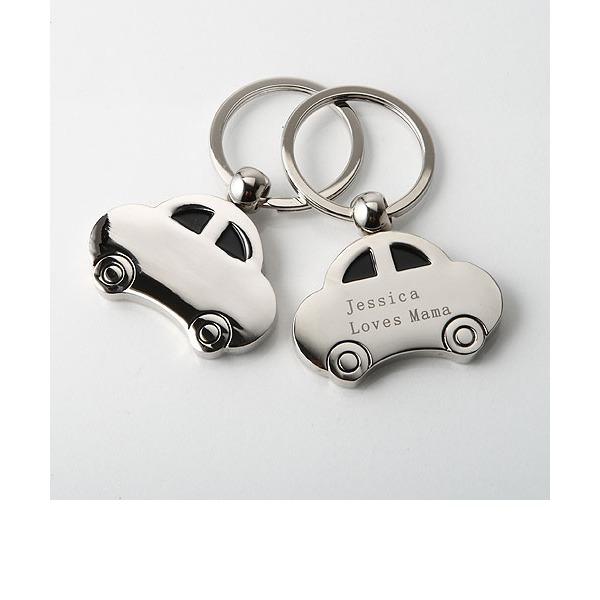 personnalisé Design de voiture En alliage de zinc Portes-clés (Lot de 4)