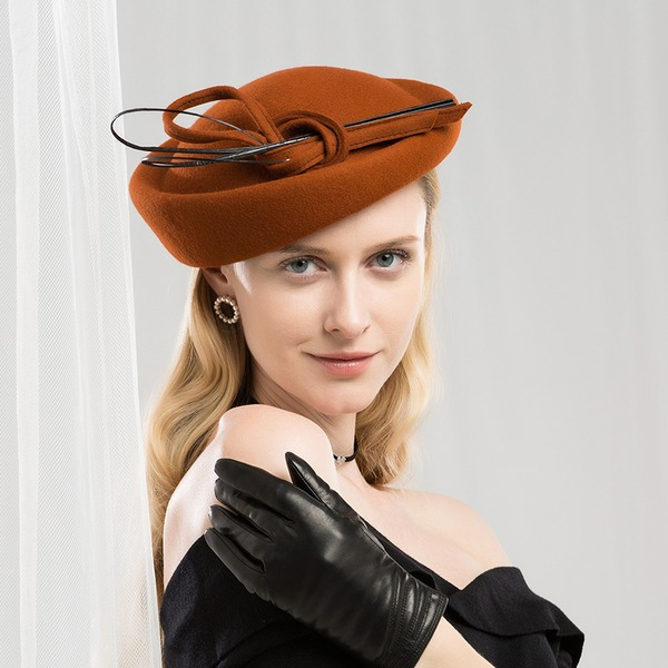 Dames Mode/Betoverend/Klassiek/Nice/Luim Wol met Feather Baret van Hat