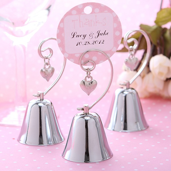 Wedding Bell Style Stainless Steel Place Card Holders