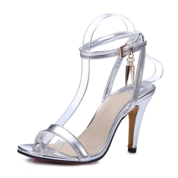 Naisten Keinonahasta Piikkikorko Sandaalit Avokkaat jossa Solki kengät