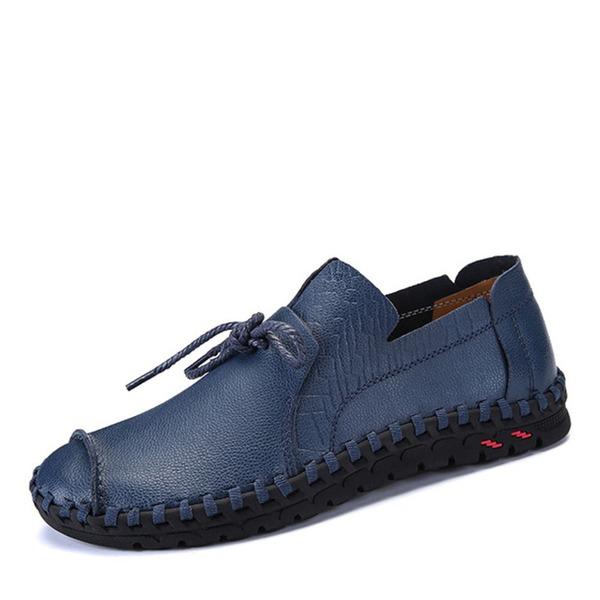 Homens Couro Aplicação de renda Casual Sapatos De Vestido Oxfords Masculinos