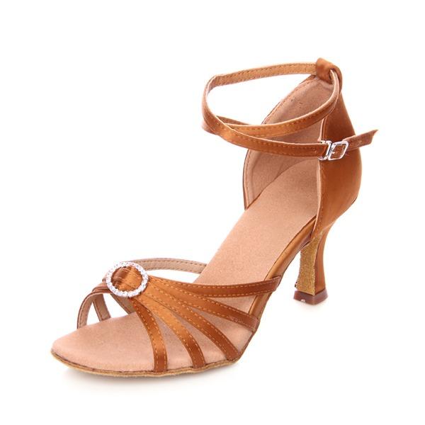 Donna Raso Tacchi Sandalo Latino con Strass Listino alla caviglia Scarpe da ballo