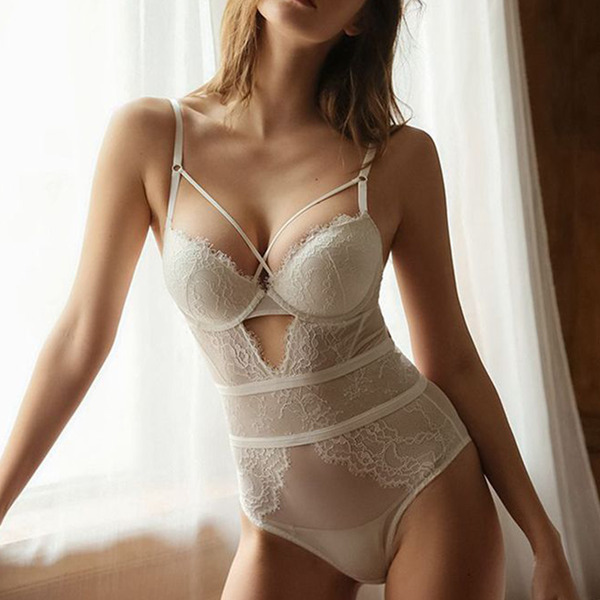 Charming Polyester Underwire Bridal Lingerie/Teddies