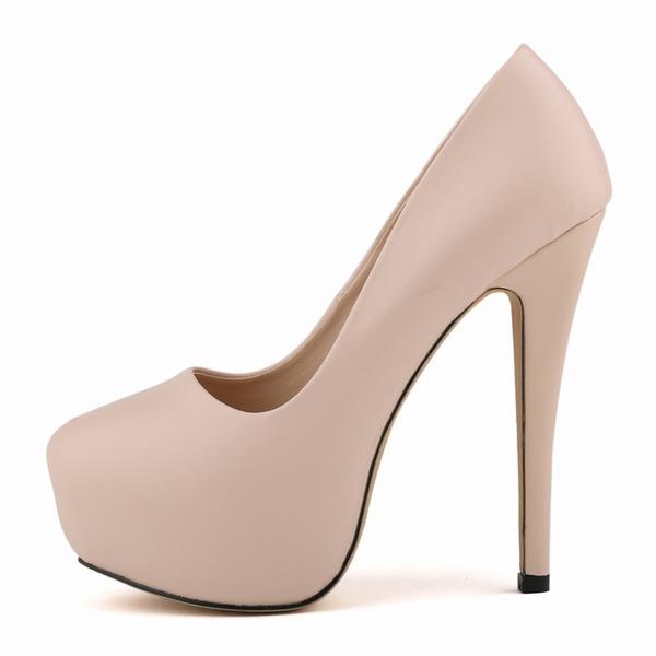 Donna Similpelle Tacco a spillo Stiletto Piattaforma Punta chiusa scarpe