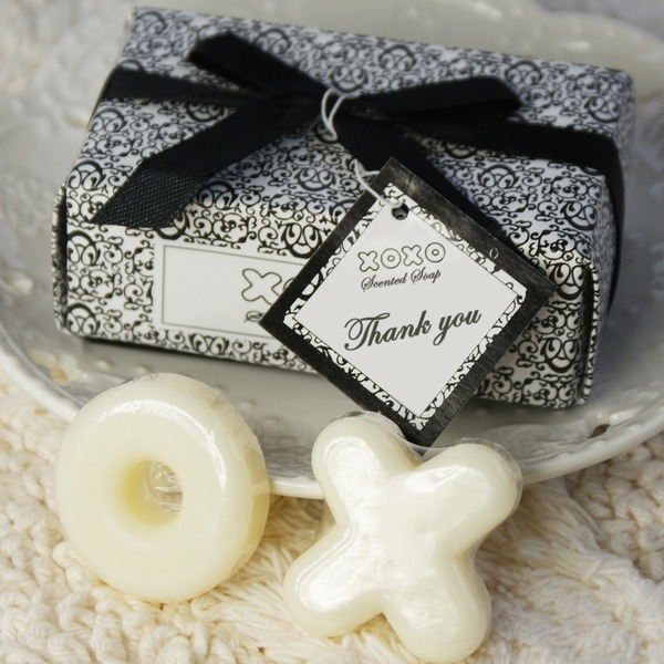 """Hugs & Kisses From Mr. & Mrs."" Soaps With Ribbons/Tag (Set of 2 pieces)"