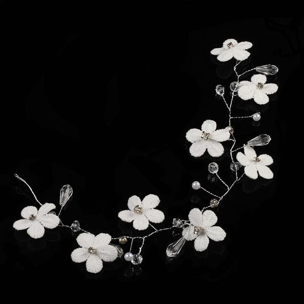 Strass/Legering/Zijde Bloemen Hoofdbanden met Strass (Verkocht in één stuk)