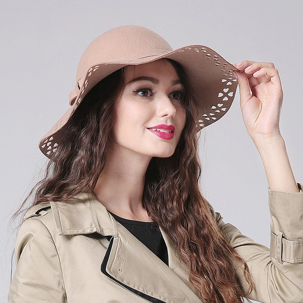 Ladies' Glamourous/Eye-catching/Vintage Wool Floppy Hat