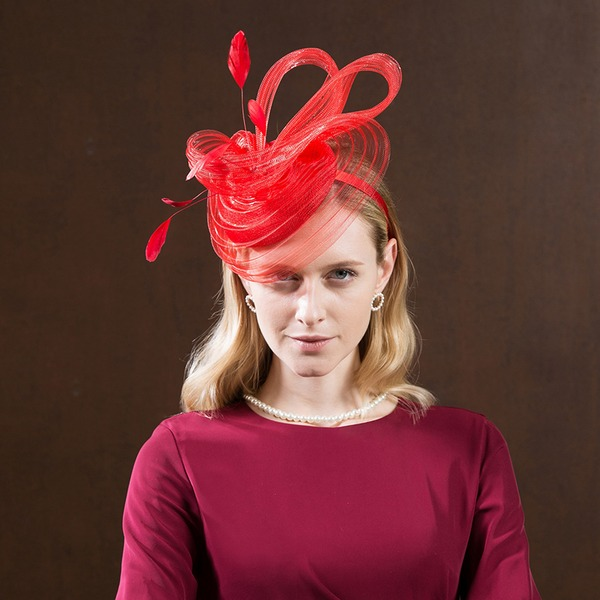 Ladies' Fashion/High Quality/Romantic/Vintage Polyester With Feather Fascinators