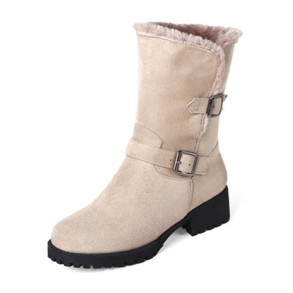 Vrouwen Kunstleer Chunky Heel Laarzen Half-Kuit Laarzen schoenen