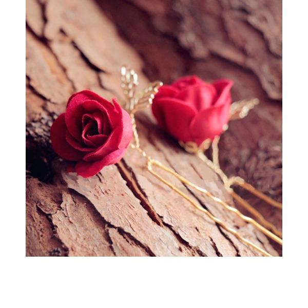 Damer Vackra Och Legering/Siden blomma Hårnålar (Set av 2)