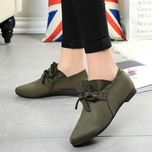 Kvinnor Mocka Flat Heel Platta Skor / Fritidsskor Stängt Toe med Bandage skor