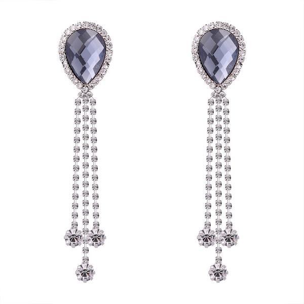 Elegant Rhinestones/kobber/Glass Damene ' øredobber