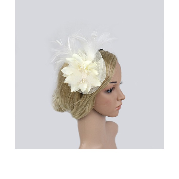 Dames Style Classique Feather/Fil net Chapeaux de type fascinator/Chapeaux Tea Party