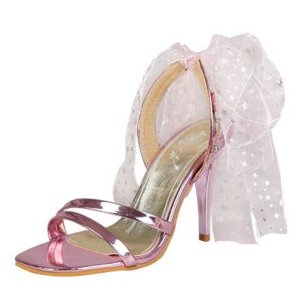 Women's PU Stiletto Heel Sandals Pumps With Ribbon Tie shoes