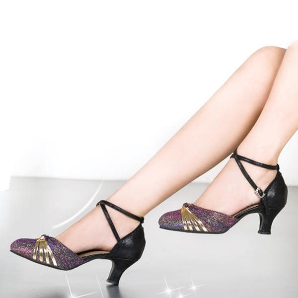 Femmes Pailletes scintillantes Talons Salle de bal Chaussures de danse