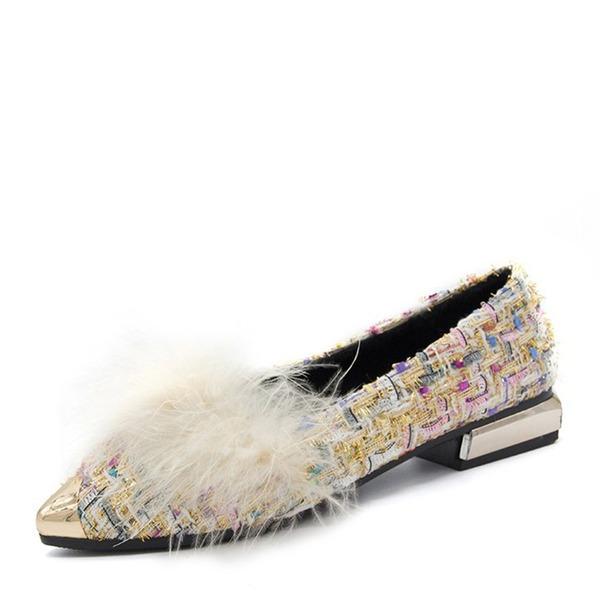 Naisten Kankaalla Matalakorkoiset Heel Matalakorkoiset Suljettu toe kengät