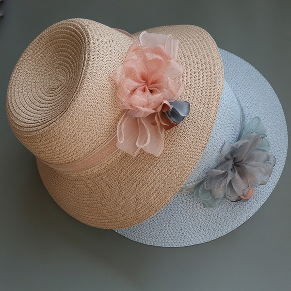 Ladies' Special/Glamourous/Elegant/Simple/Eye-catching/Fancy Raffia Straw With Flower Straw Hat