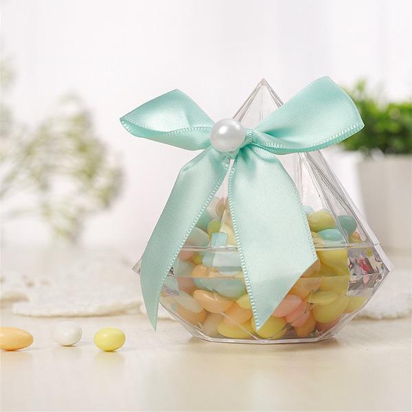 Creativo/Caramelle Progettazione A Forma di Bottiglia Plastica Barattoli e Bottiglie con Nastri (set di 12)