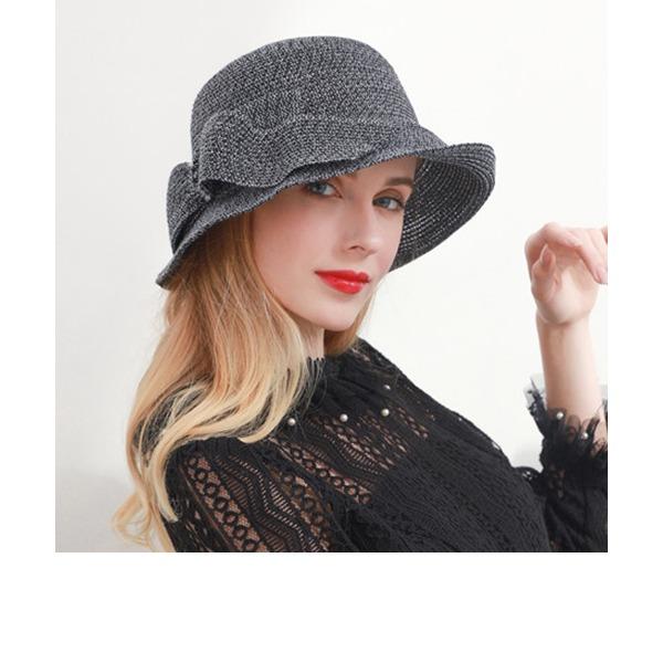 Dames Mode/Glamour/Jolie Polyester Disquettes Chapeau