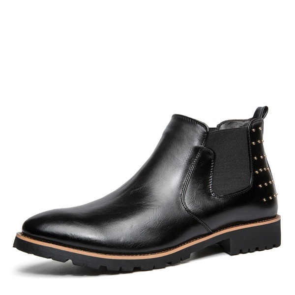 Men's Leatherette Chelsea Casual Men's Boots