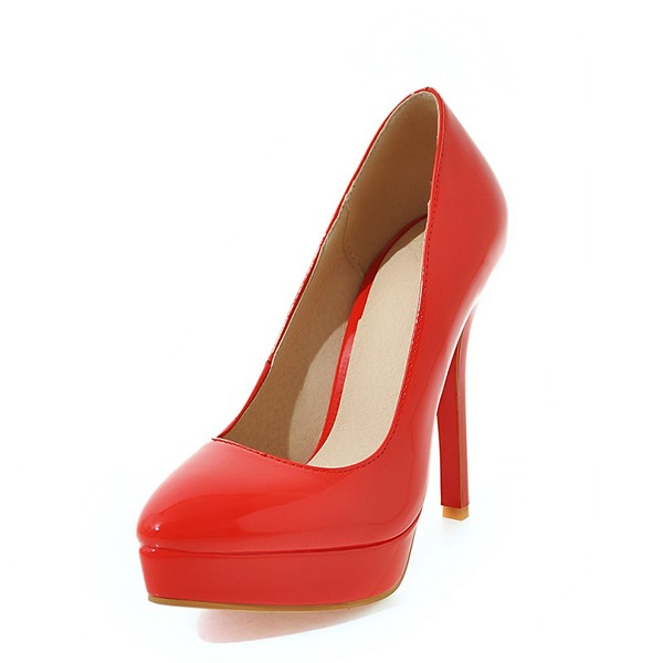 Women's Leatherette Stiletto Heel Pumps Platform Closed Toe With Others shoes