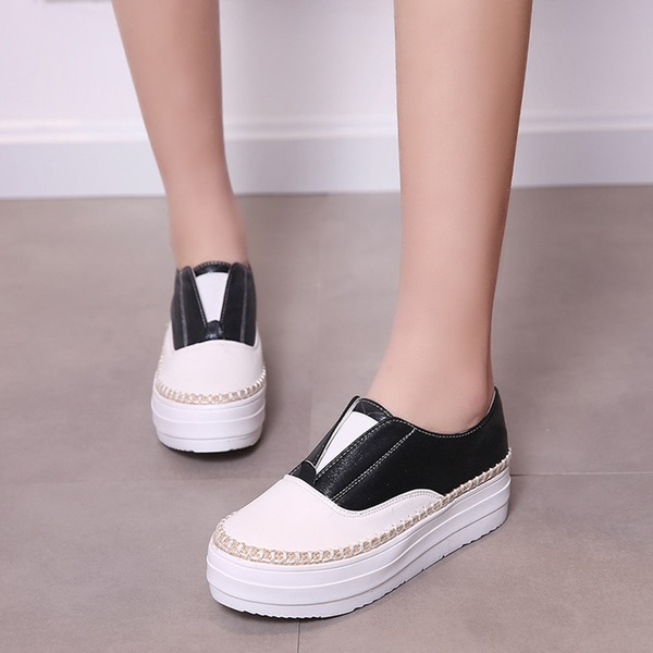 Women's Leatherette Wedge Heel Closed Toe Wedges With Chain Others shoes