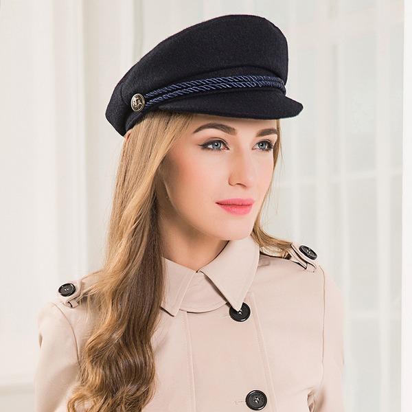 Damer' Elegant/Enkel/Snygga Ull Diskett Hat