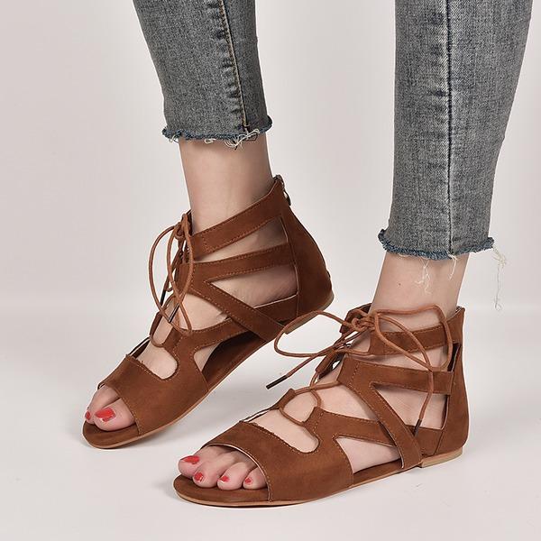 Vrouwen Stof Flat Heel Sandalen schoenen