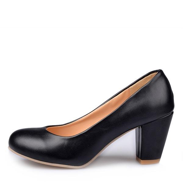 Dla kobiet Skóra ekologiczna Obcas Slupek Czólenka Zakryte Palce Z Pozostałe obuwie