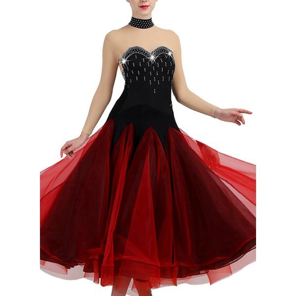 Women's Dancewear Spandex Organza Modern Dance Performance Dresses