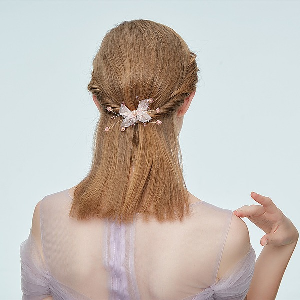 Ladies Stylish Alloy Hairpins With Rhinestone/Venetian Pearl (Sold in single piece)