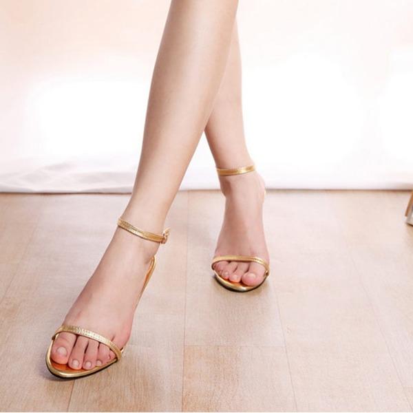 Donna Similpelle Tacco a spillo Sandalo Punta aperta Con cinturino con Allacciato scarpe