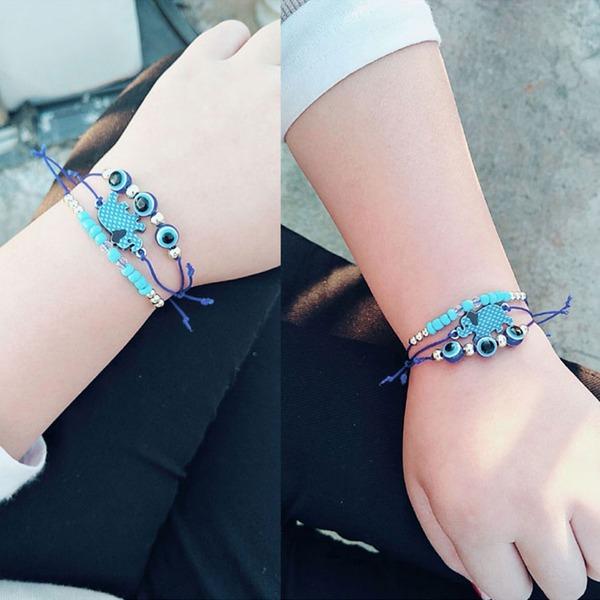 Chic Alliage Corde tressée Femmes Bracelets de mode (Lot de 3)