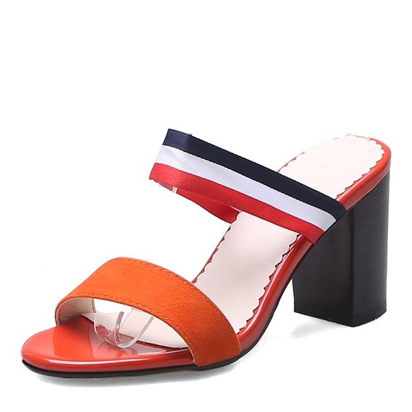 Frauen PU Stöckel Absatz Sandalen Absatzschuhe Peep Toe Pantoffel mit Andere Schuhe