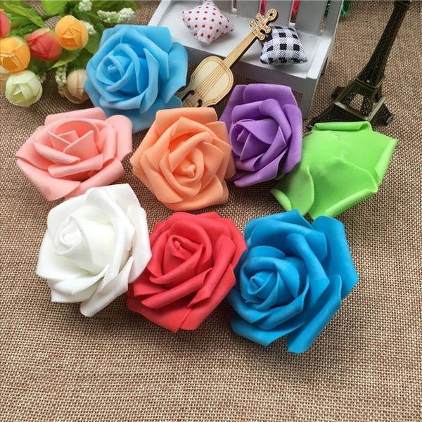 Piękny/W kształcie róży Bardzo Piana/PE Sztuczne kwiaty (Zestaw 100)
