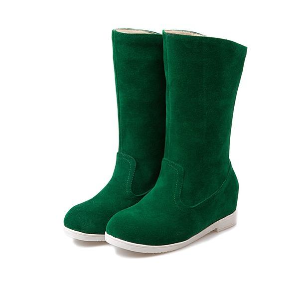 Naisten Mokkanahka Matalakorkoiset Heel Kengät Lumi saappaat kengät