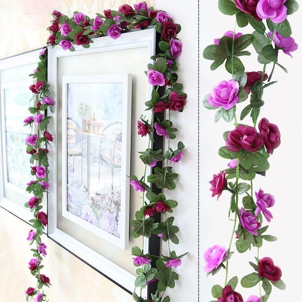 Blomst Vintreet Attraktiv Silke blomst Kunstige Blomster (Selges i en haug)