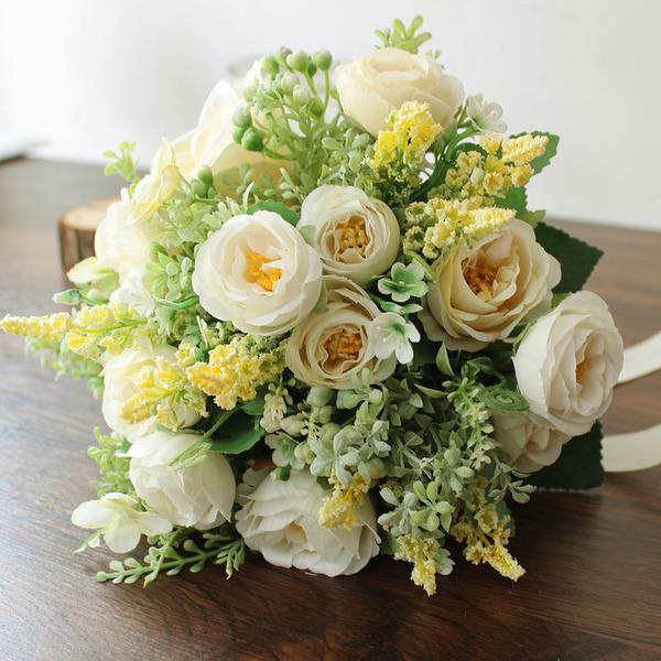 Alımlı yuvarlak ipek Çiçek Gelin buketleri/Nedime Buketleri - Gelin buketleri/Nedime Buketleri