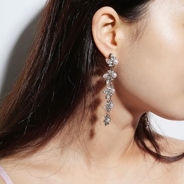 Einzigartig Legierung mit Strass Frauen Art-Ohrringe (Set von 2)