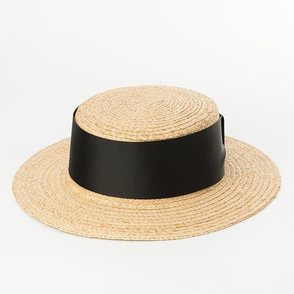Senhoras Simples/Feito à mão Rattan de palha Chapéu de palha/Kentucky Derby Bonés