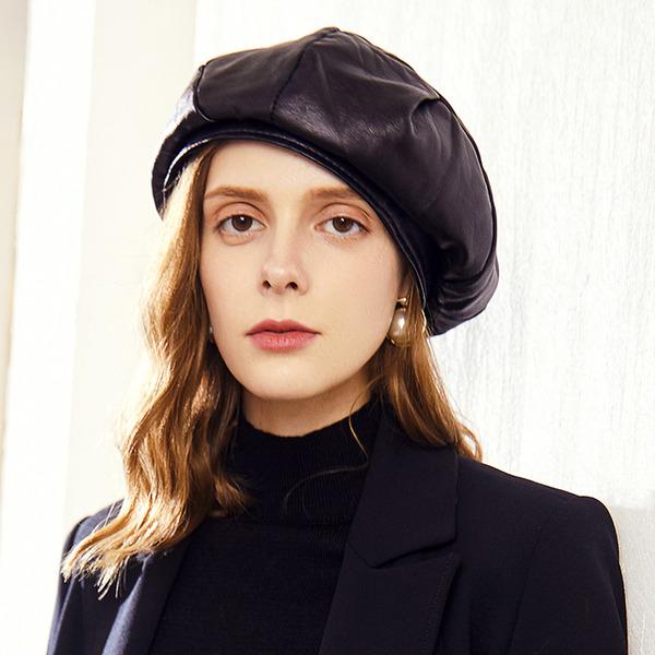 Sonar Naisten Loistokkaat/Tyylikäs/Kaunis Pu Beretin hattu