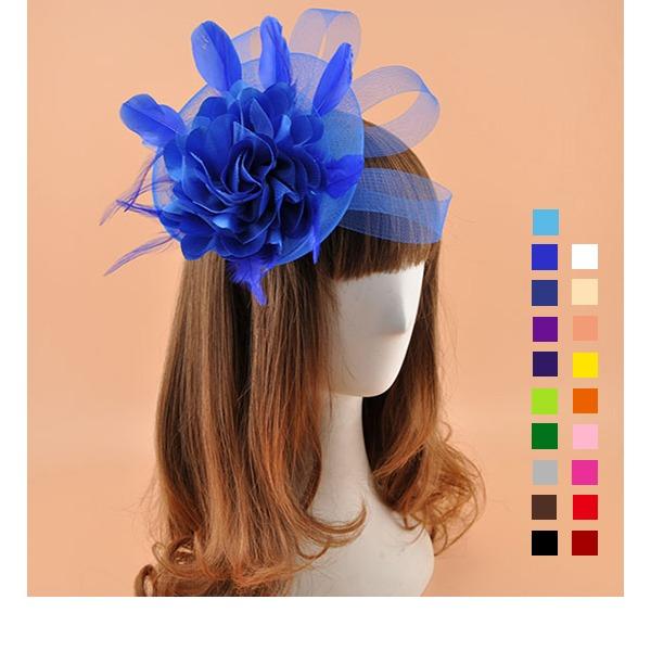 Dames Élégante Batiste avec Fleur en soie Chapeaux de type fascinator/Kentucky Derby Des Chapeaux