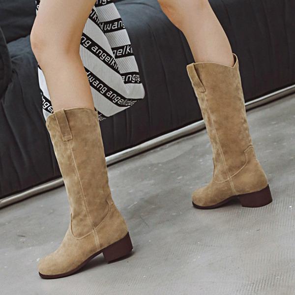 Vrouwen Kunstleer Chunky Heel Half-Kuit Laarzen schoenen