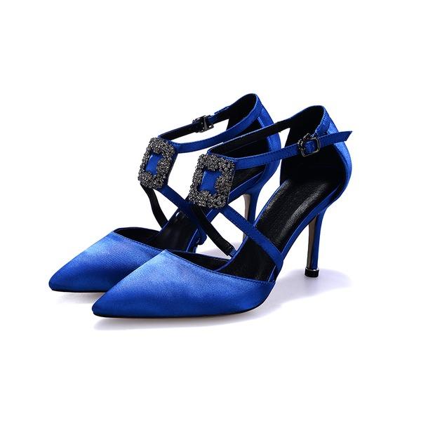 De mujer Satén Tacón stilettos Salón zapatos
