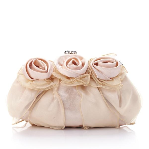 Nydelig Silke/Tyll med Blomst Koblinger