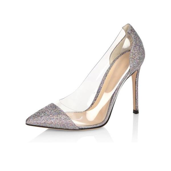 Kadın PU İnce Topuk Pompalar Kapalı Toe ayakkabı